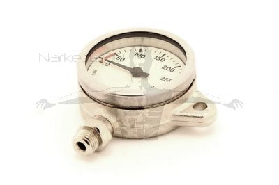 White Faced 52mm Brass Tech Snap Pressure Gauge