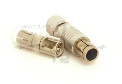 7pin Fischer Plug with cable collet set to fit 5.2mm to 5.7mm cable
