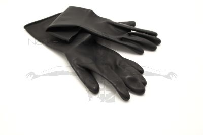 Black Rubber Latex 1.6mm Gloves - (6.5) Small (GL-BRL1.6S)