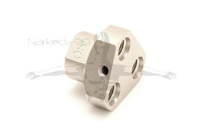 """MB-Z3-2  3-Way Y Block Adapter  with 1 x 9/16"""" female (in) and 3 x 3/8"""" female (out) WITH FIXING SCREW HOLE"""