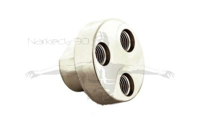 """MB-Z3  3-Way Y Block Adapter  with 1 x 9/16"""" female (in) and 3 x 3/8"""" female (out)"""