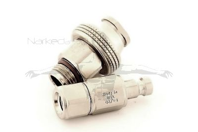 QDB-CV-ZF-S - Two Piece Quick Disconnect to Regulator Hose Adaptor with Check Valve - Big Nut