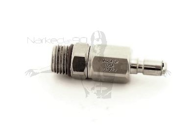 QDCV-BC-YM  BCD Nipple To 9/16 Male Fitting with Check Valve