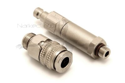 QDNL-FH60-CV-S       Two Piece Quick Disconnect to Regulator Hose Adaptor with Check Valve & 60 Micron Filter (LOCKING)