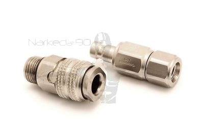 QDNL-CV-ZF-S - Two Piece Quick Disconnect to Regulator Hose Adaptor with Check Valve - Non Locking