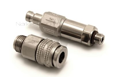 QDNL-FH15-CV-S Two Piece Quick Disconnect to Regulator Hose Adaptor with Check Valve & 15 Micron Filter - Non Locking