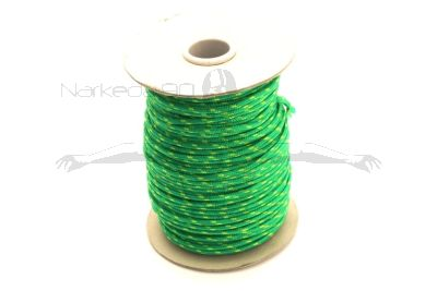 100m Coil Coloured Line Spool - Green & Yellow