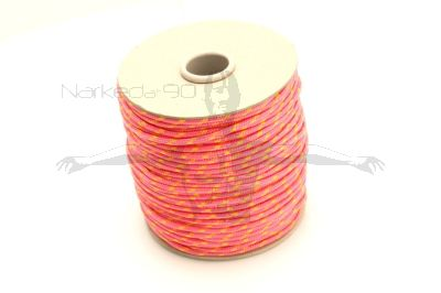 100m Coil Coloured Line Spool - Pink & yellow