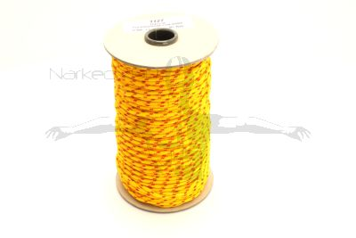 100m Coil Coloured Line Spool -  Yellow & red